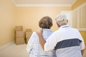 Elderly Couple Moving