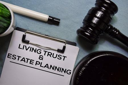 living-trust-document-and-gavel