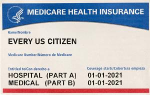 Mock up of Medicare Card