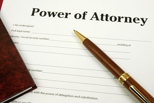 blank power of attorney document